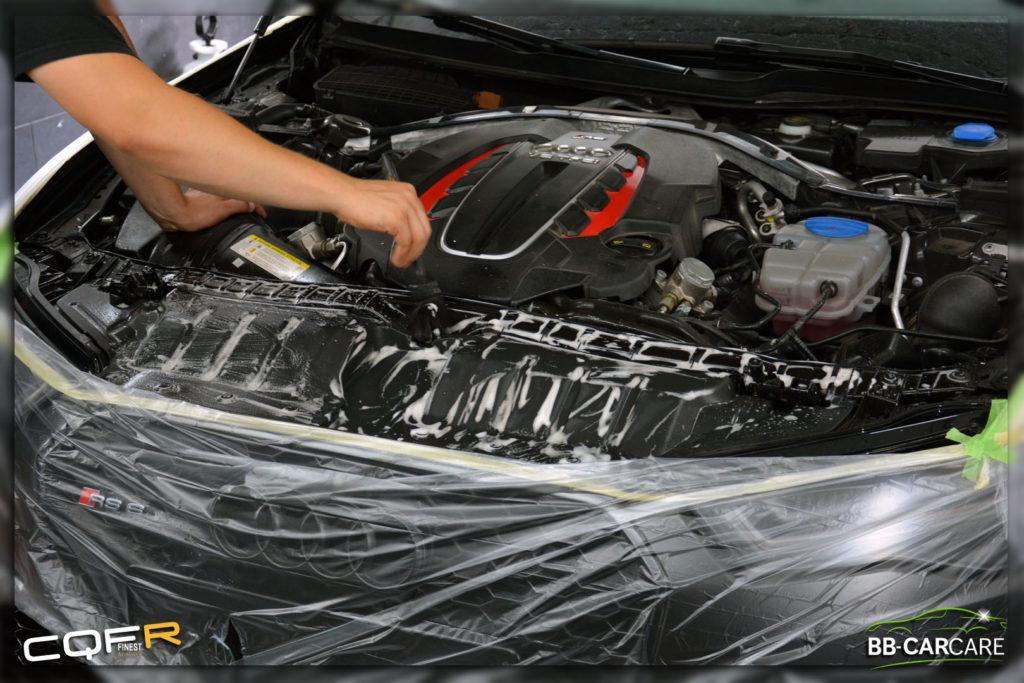 motorruimte reinigen