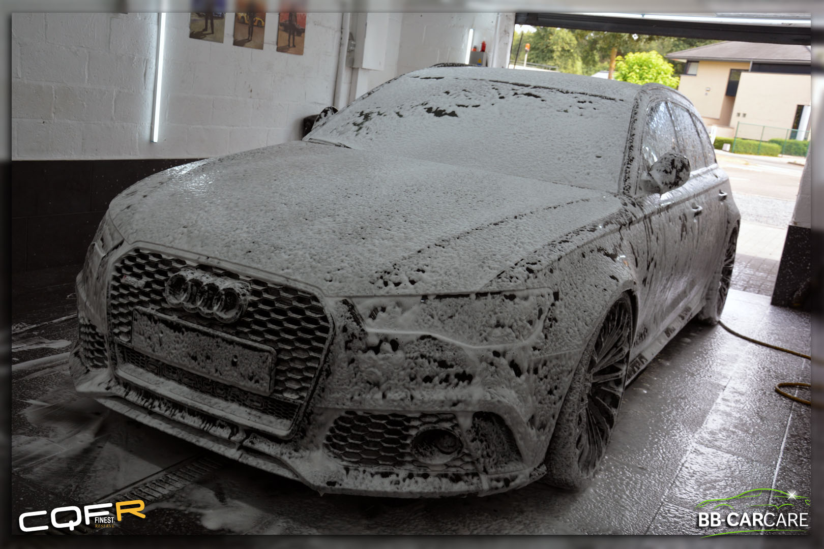 voorwas foam decontaminatie audi rs6