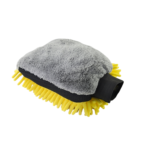 3 way wash mitt yellow grey