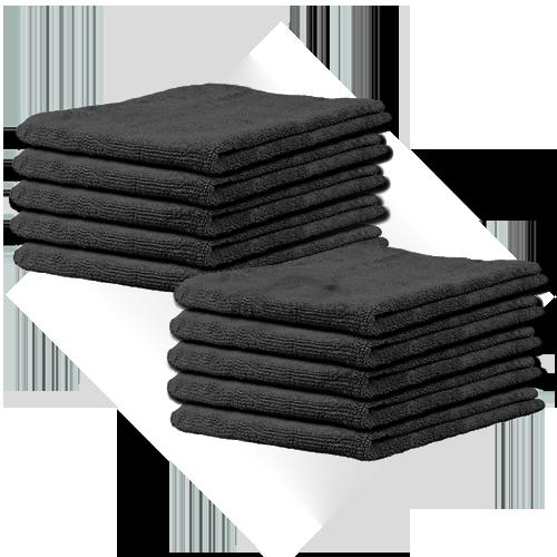 BB-microvezel zwart 10 pack