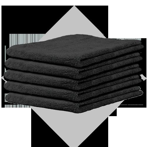 BB-microvezel zwart 5-pack