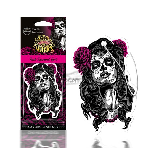 Dia-De-Los-Muertos-Air-Freshener---Pink-Diamond-Girl